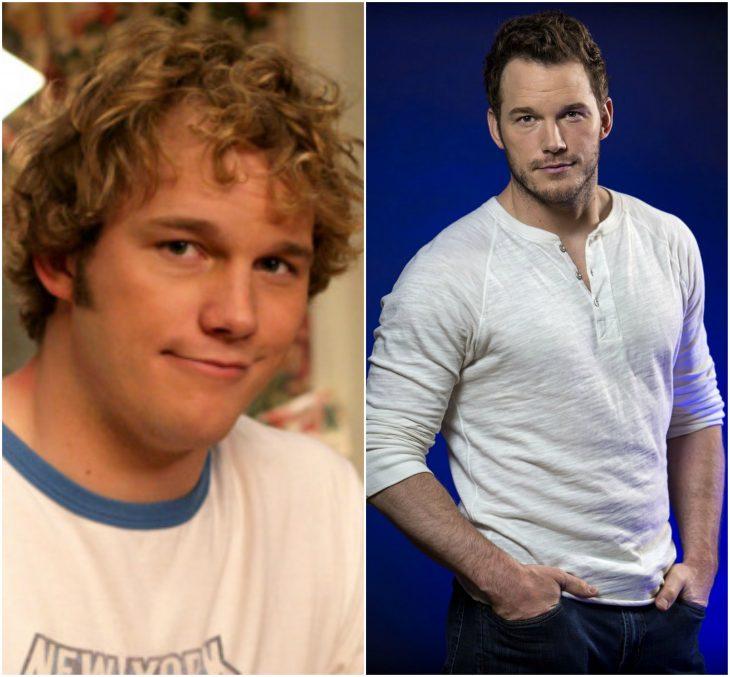 Chris Pratt joven y actual