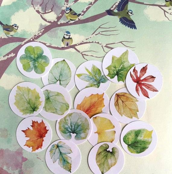 estampas de hojas