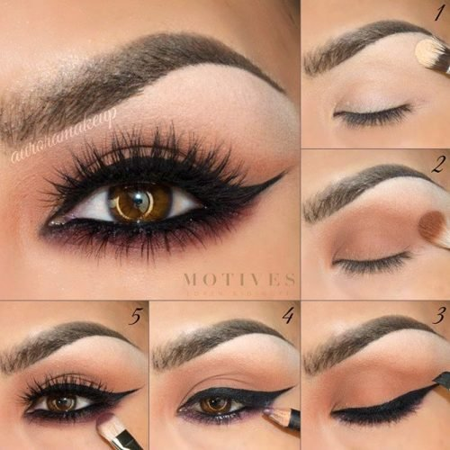 25 Maquillajes Paso A Paso Para Resaltar Tus Ojos Cafes - Pintura-de-ojos-paso-a-paso