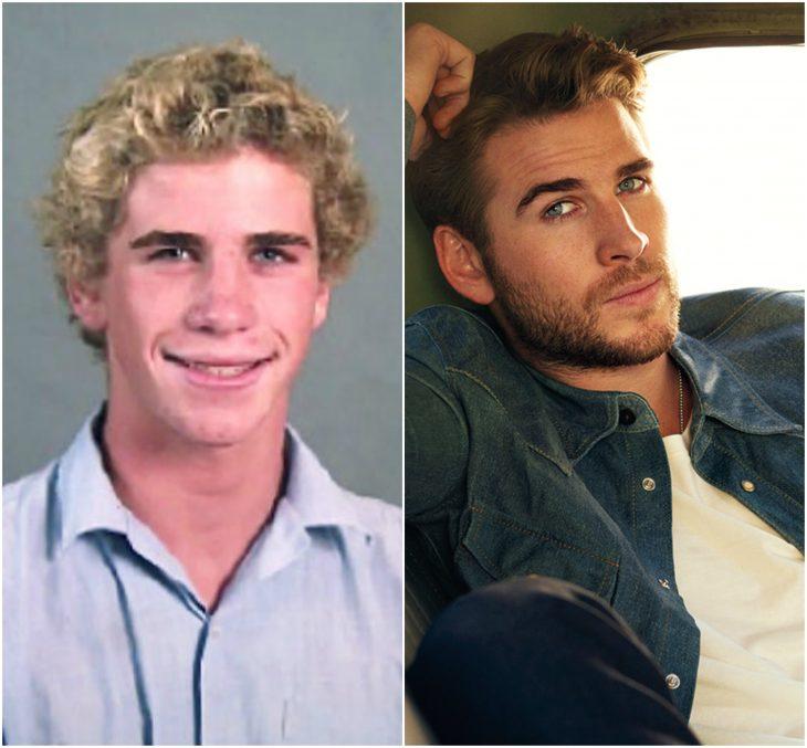 Liam Hemsworth joven y actual