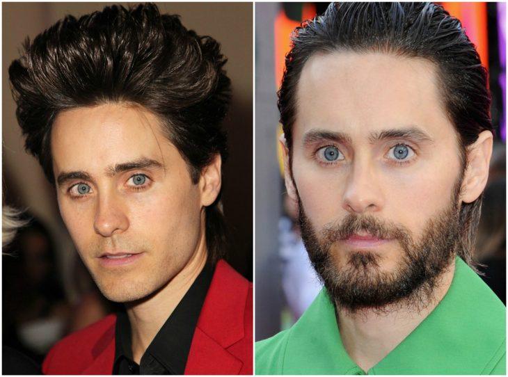 7. Jared Leto sin y con barba