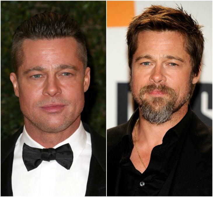 9. Brad Pitt sin y con barba