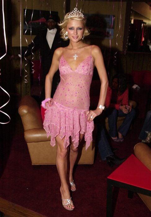 Paris Hilton en el 2000 celebrando su cumpleaños