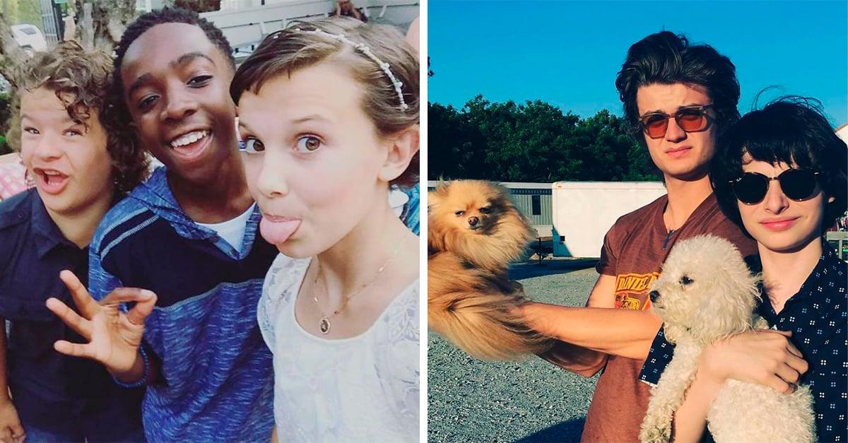 20 Adorables fotos del elenco de Stranger Things; son geniales en pantalla y fuera de ella