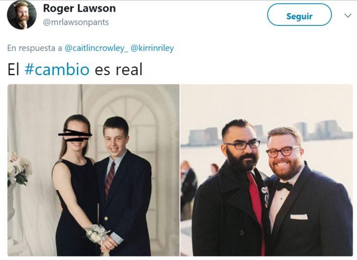 Comentarios en twitter antes y después de personas que encontraron el amor verdadero