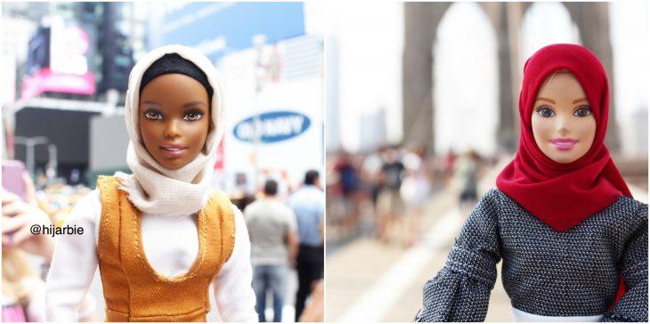 Barbies vestidas con hijab