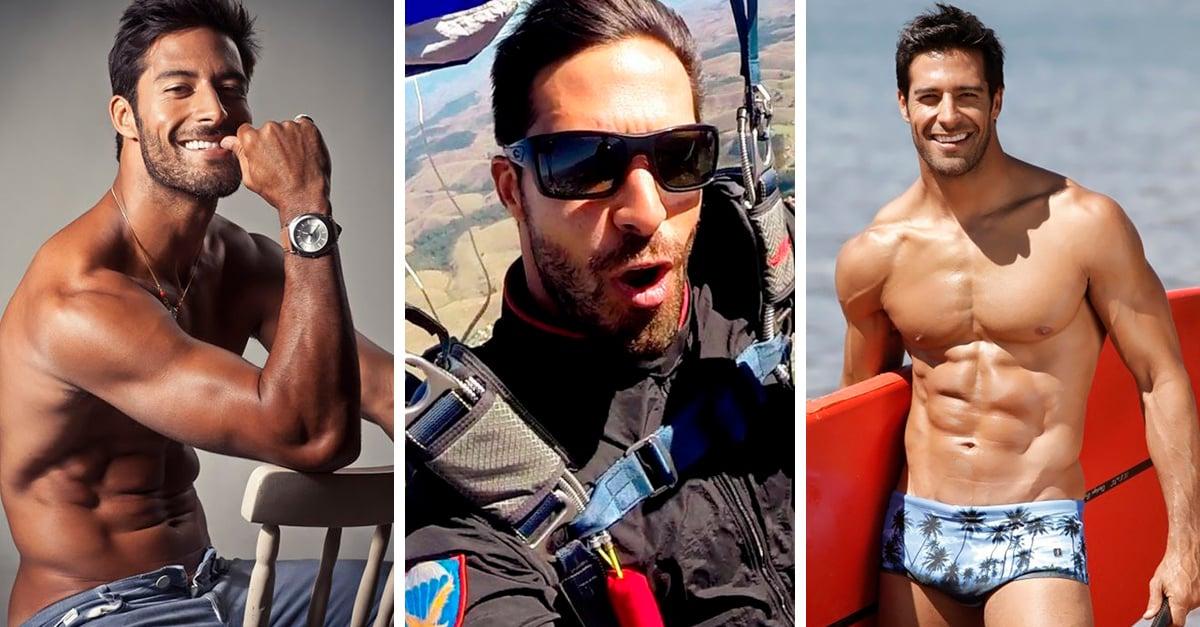 Beto Malfacini: el paracaidista más sexi de Instagram
