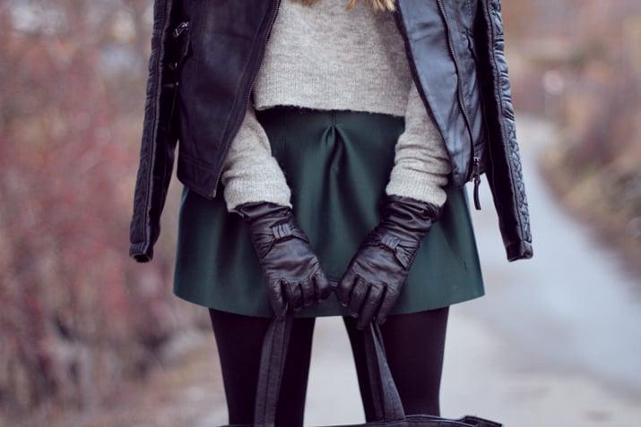 guantes de piel
