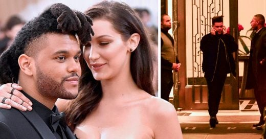 Captan a The Weeknd saliendo del apartamento de Bella Hadid