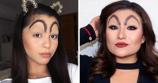 Chica con las cejas maquilladas como las de McDonalds