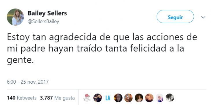 Chica escribiendo en twitter un agradecimiento por los comentarios de su publicación