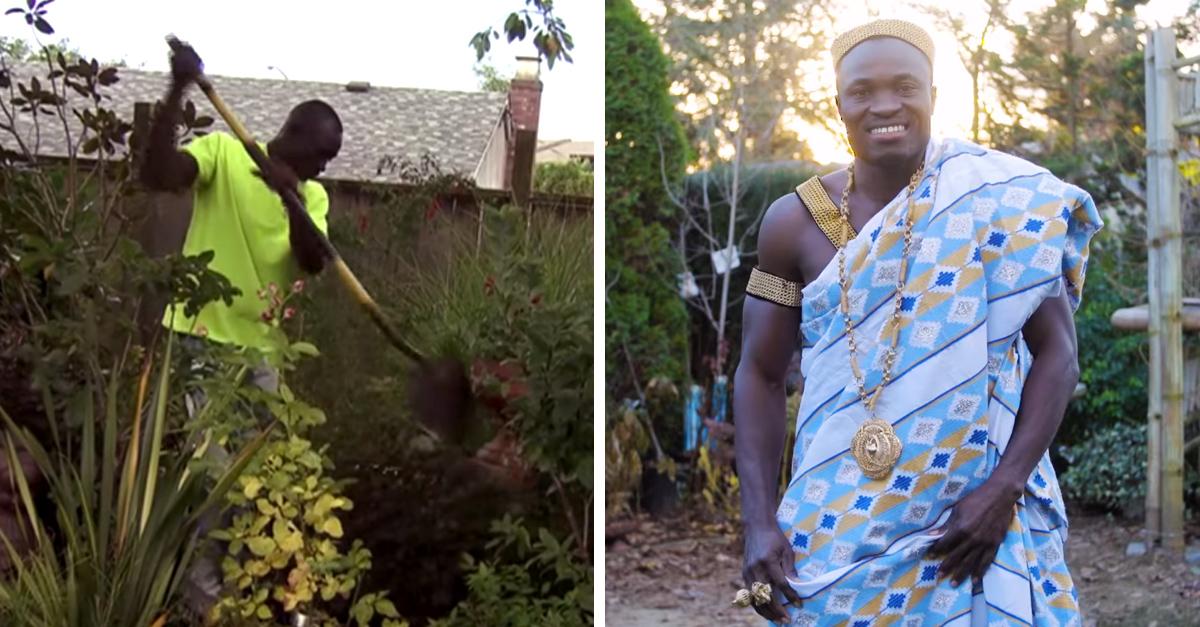 De jardinero en Canadá a rey en África; ¡se volvió heredero de la noche a la mañana!