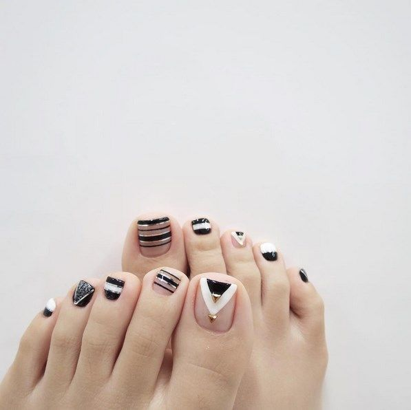 Diseños de uñas para los pies