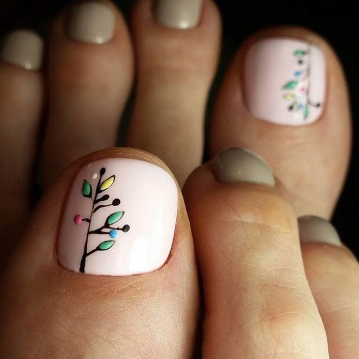 20 dise os de u as que mantendr n tus pies hermosos y lindos for Unas decoradas con piedras brillantes