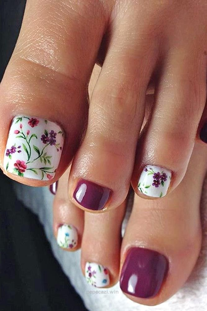 20 diseños de uñas que mantendrán tus pies hermosos y lindos