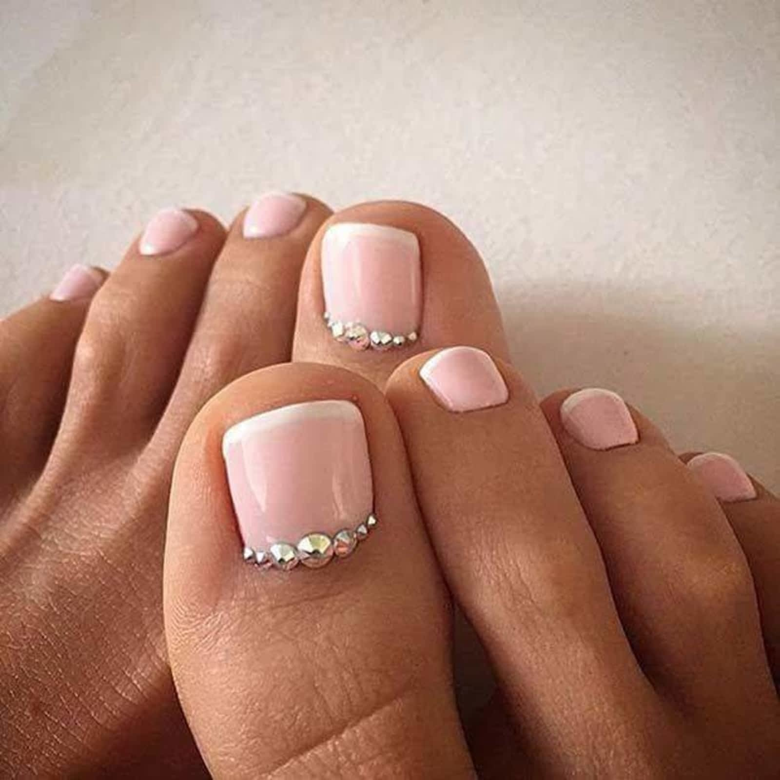 20 diseños de uñas que mantendrán tus pies hermosos y lindos a09cf555d65