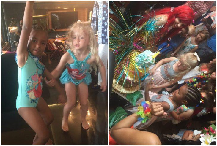 niñas festejando su cumpleaños