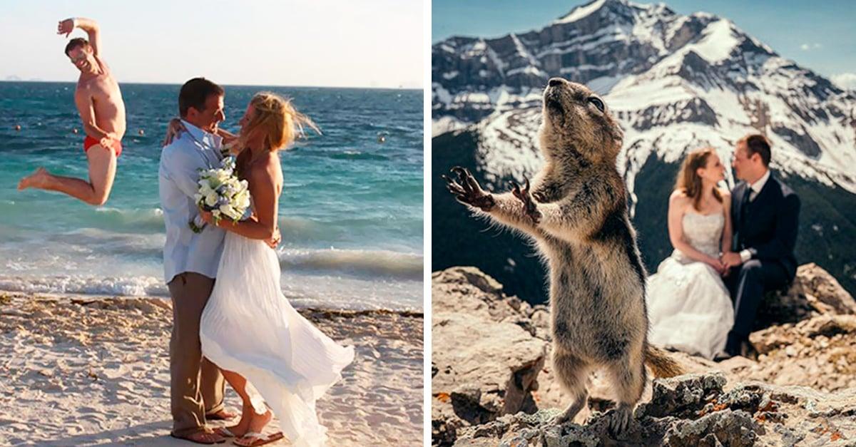 Fotos de boda que fueron mejoradas por divertidos intrusos