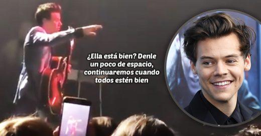 Harry Styles detuvo su concierto para poder ayudar a una fan que sufría un ataque de pánico