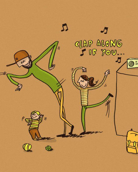 ilustración de chico bailando