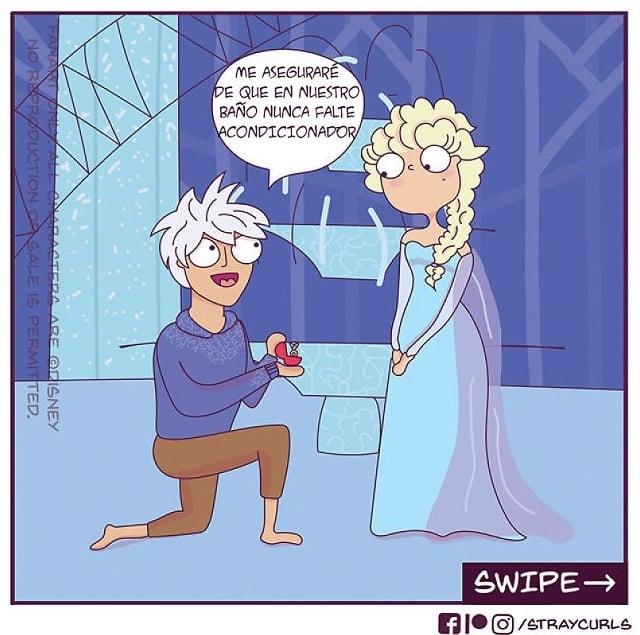 ilustración de Elsa, Frozen