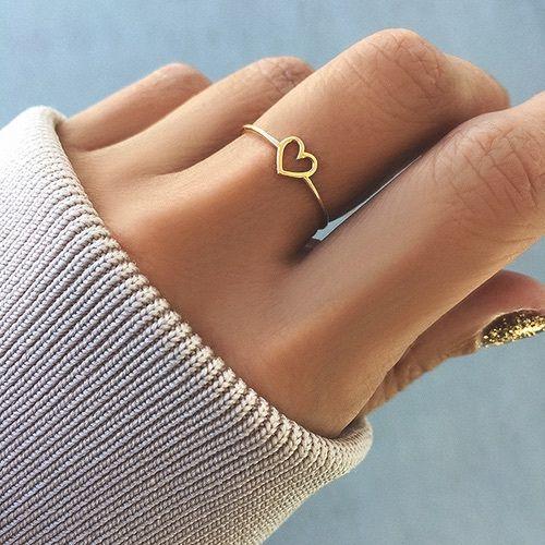 anillo pequeño de corazón
