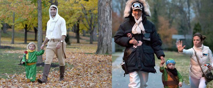 Justin Trudeau disfrazado en Halloween