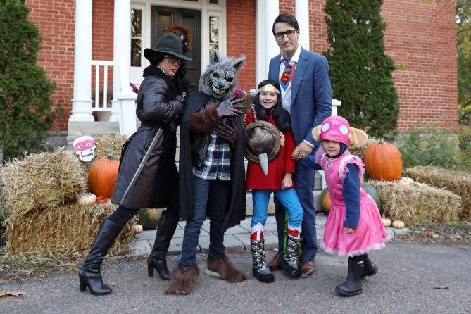 Justin trudeau y familia de superheroes y villanos