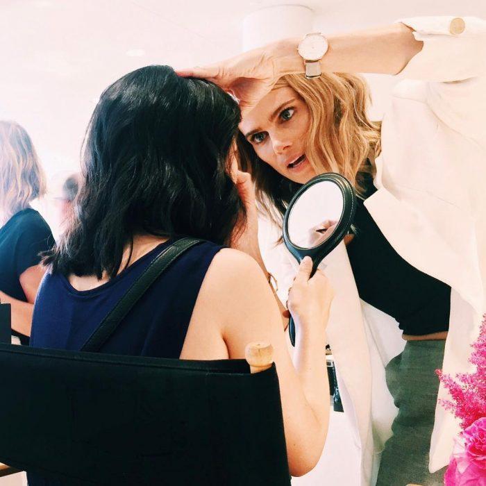 chicas en el salón de belleza