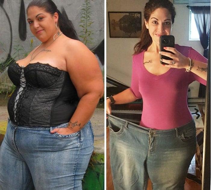ahica antes y después de bajar de peso