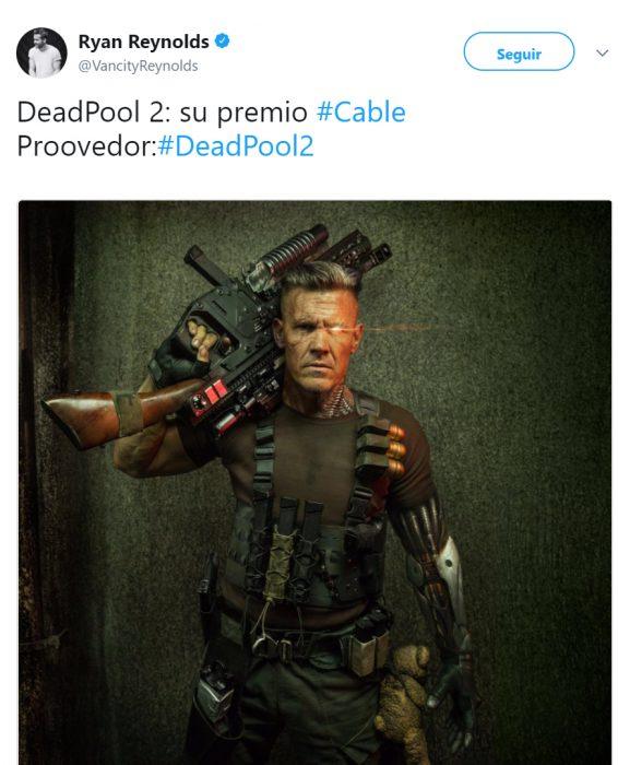 Ryan Reinolds dando un adelanto de Deadpool 2