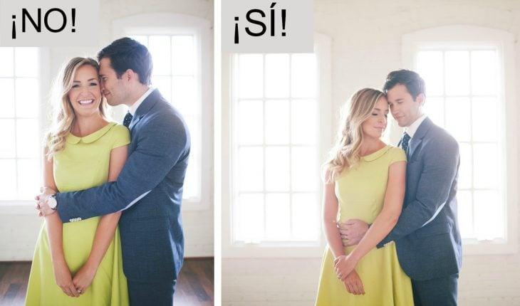 poses correctas para parejas