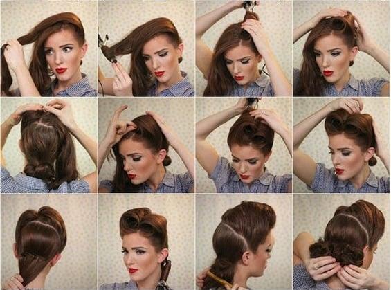 chica acomodando su cabello