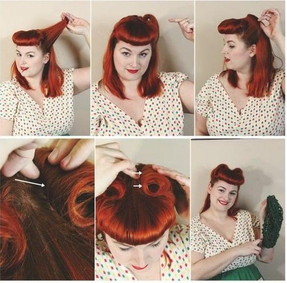 chica mostrando una red para el cabello
