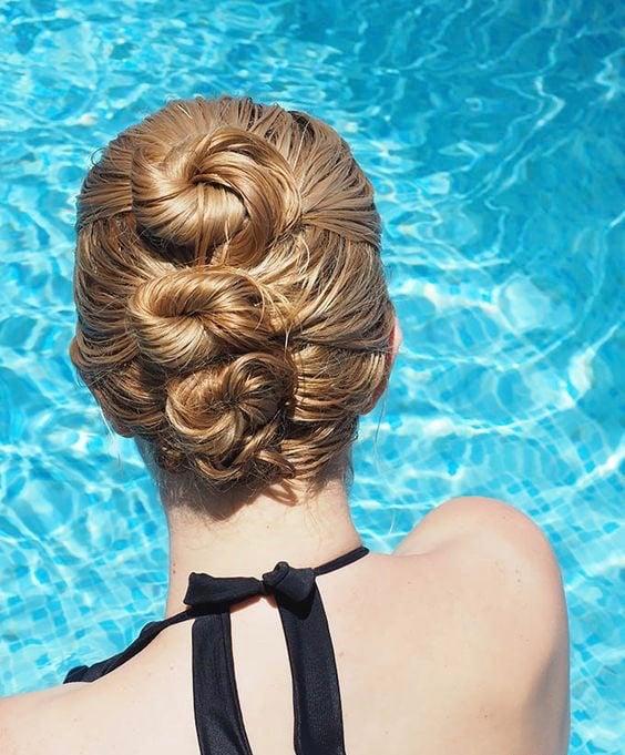Peinados de tres chongos alto, bajo y medio para poder nadar