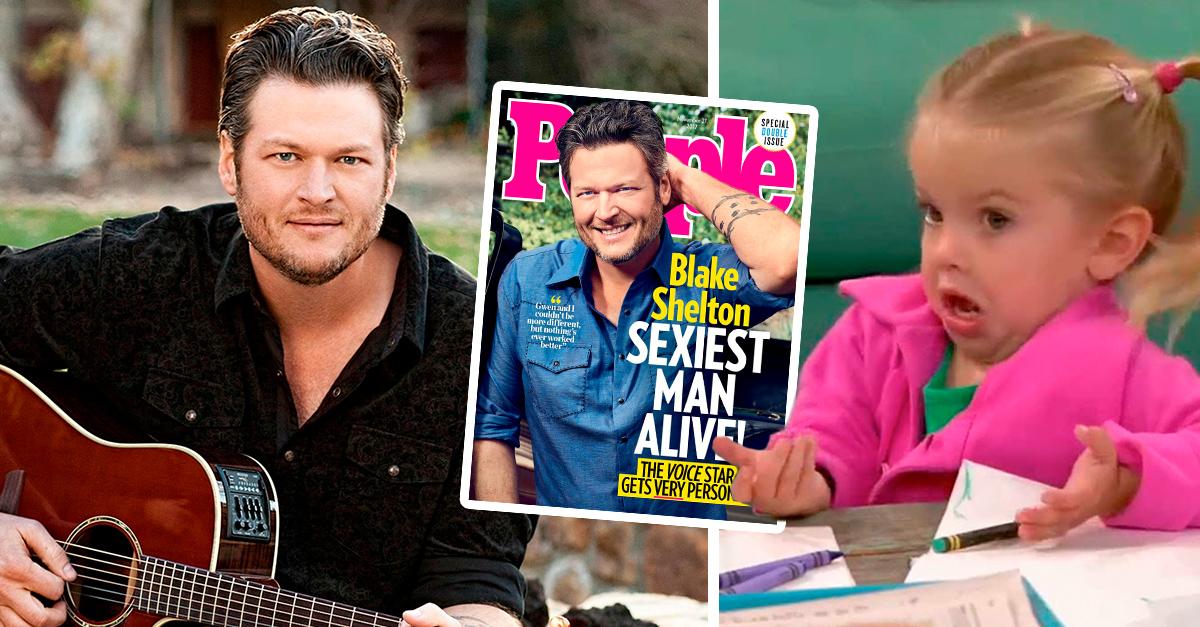 People nombró a Blake Shelton el hombre más sexi del año e Internet ha entrado en debate