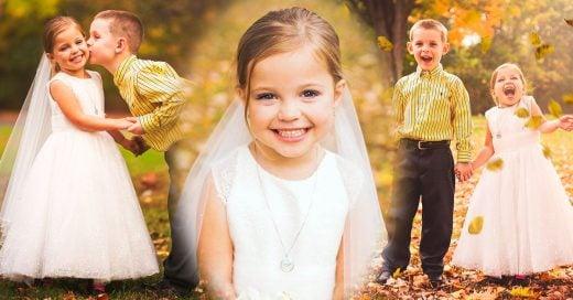 Pequeña de 5 años se casa con su mejor amigo antes de una cirugía de corazón