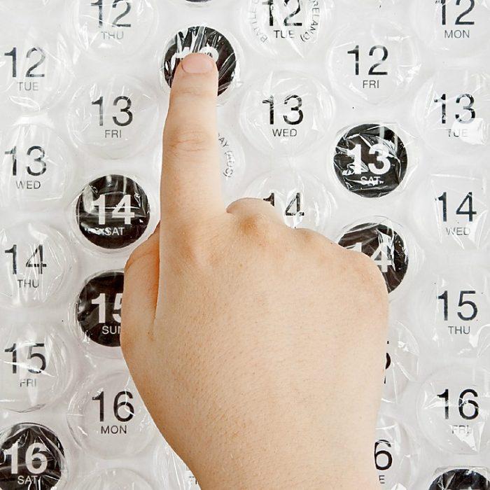 calendario de burbujas