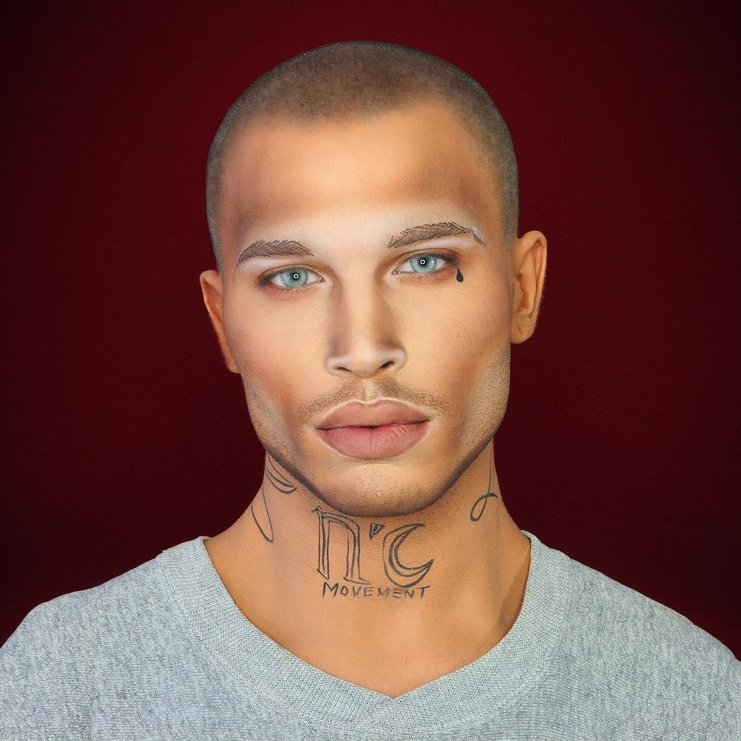384043bb40 Este chico se convierte en celebridad con solo maquillarse