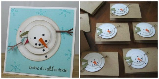 15 originales tarjetas que puedes regalar esta navidad for Figuras de nieve navidenas