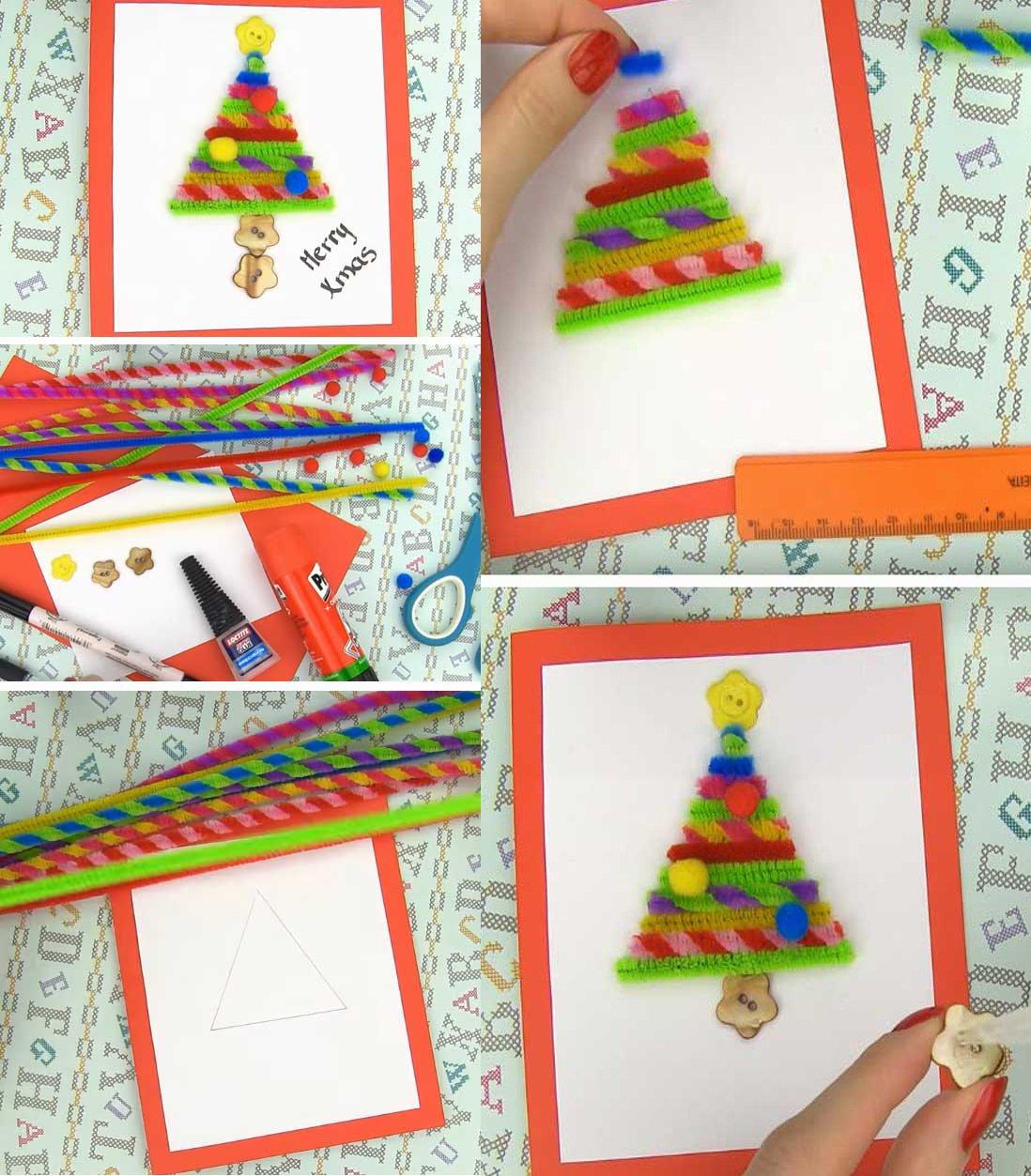 awesome tutorial de tarjetas navideas que puedes hacer tu misma en casa tarjetas navideas with tarjetas navideas originales - Imagenes Navideas