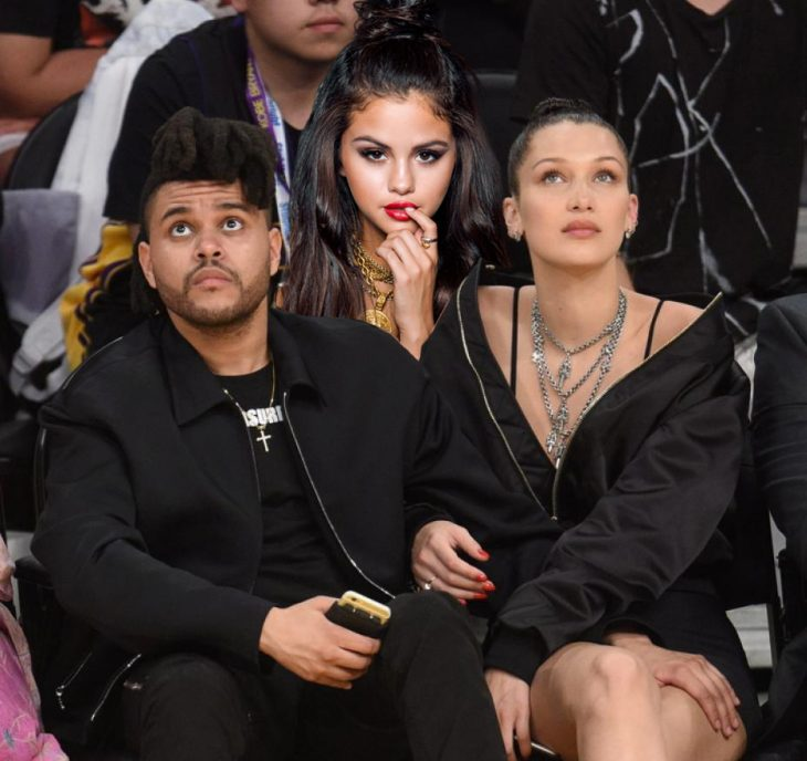 The weeknd, Selena Gomez y Bella hadid