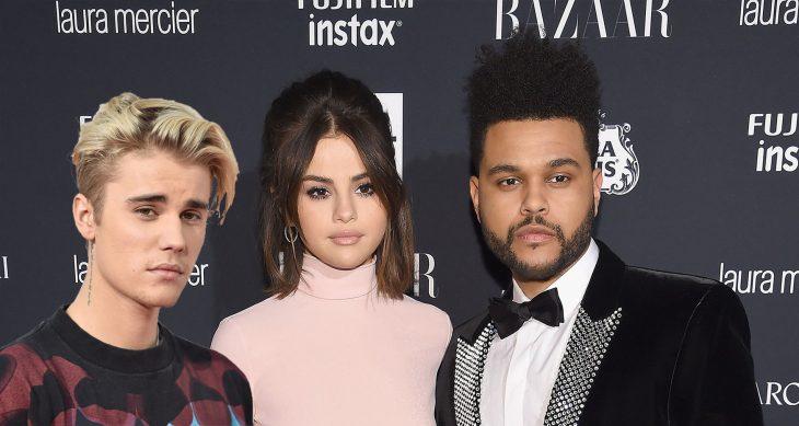 Triángulo amoroso entre The weeknd, Selena Gomez y Justin Bieber