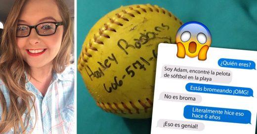 Una chica arrojó una pelota con un mensaje de amor y seis años después recibió una respuesta