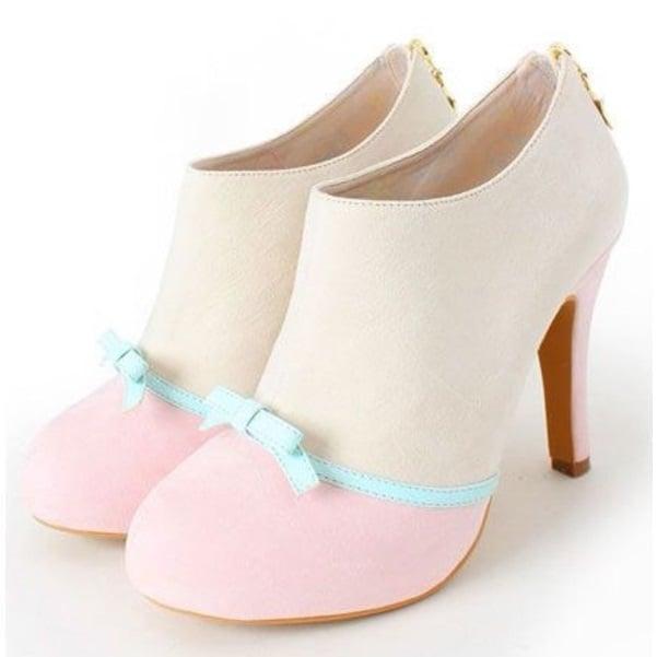zapatos color pastel