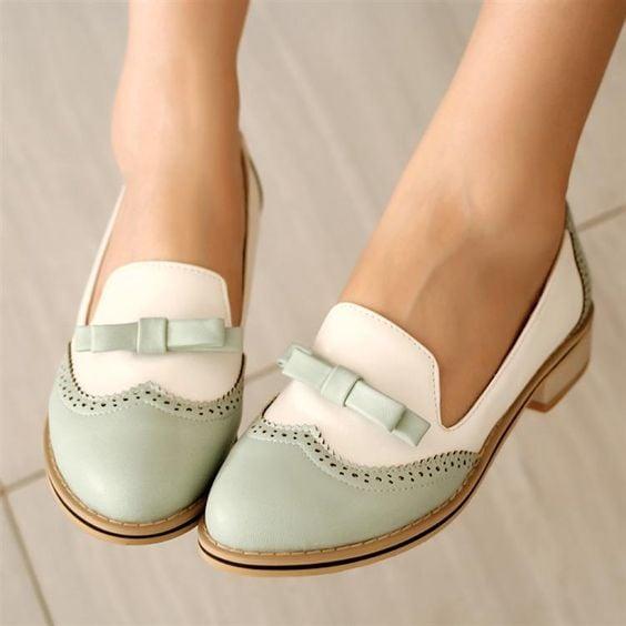 zapatos verdes pistache