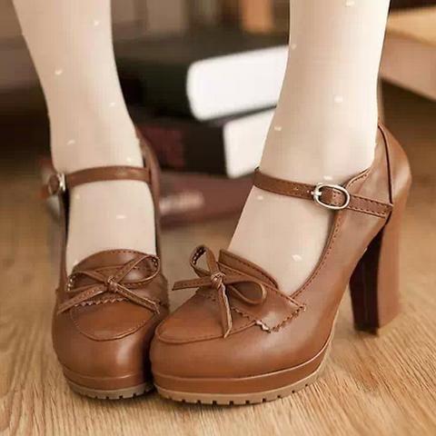 zapatos color cafe