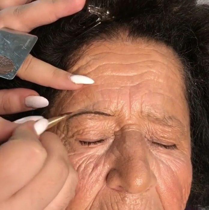 abuela makeover cejas