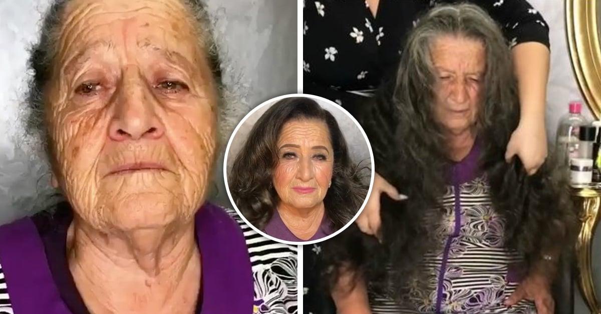 Estilista transforma a su abuela usando solo el poder del maquillaje