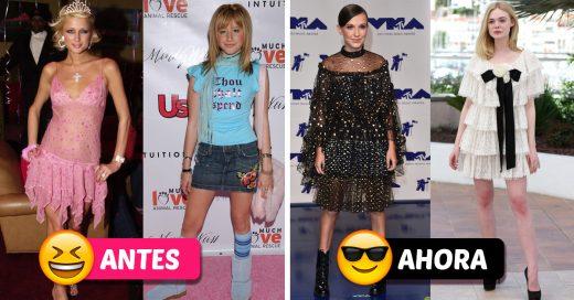 Esta comparación demuestra el estilo que tenían las adolescentes antes y ahora